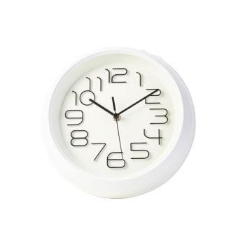 Cosy & Trendy Clock White D26xh5,3cm Round