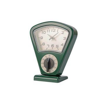 Cosy & Trendy Timer + Clock Green 17,5x10xh21cm