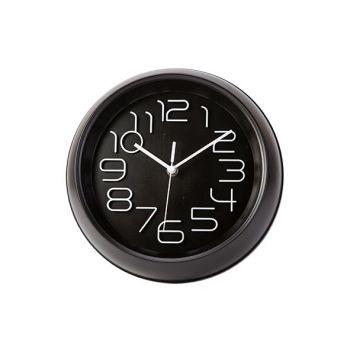 Cosy & Trendy Clock Black D26xh5,3cm Round