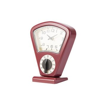 Cosy & Trendy Timer + Clock Red 17,5x10xh21cm