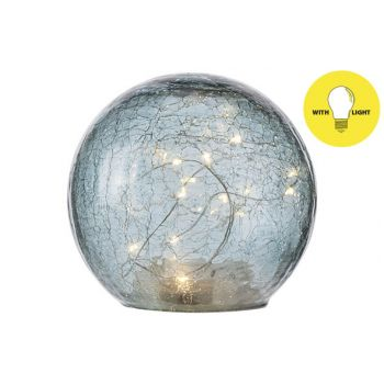 Cosy @ Home Ball Led Lamp Blue D15xh14cm Glass