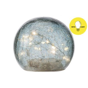 Cosy @ Home Ball Led Lamp Blue D12xh10cm Glass