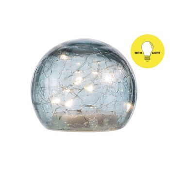 Cosy @ Home Ball Led Lamp Blue D10xh9cm Glass