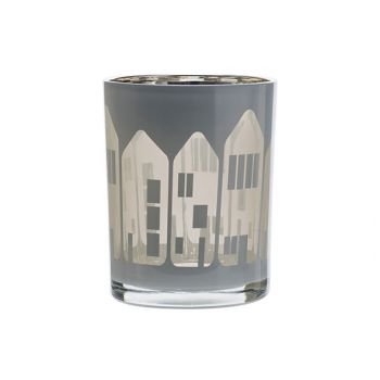 Cosy @ Home Tealight Holder Houses White 10x10xh12,5