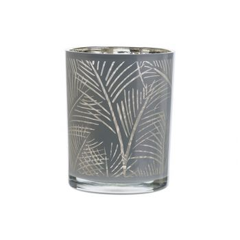 Cosy @ Home Tealight Holder Jungle White 10x10xh12,5