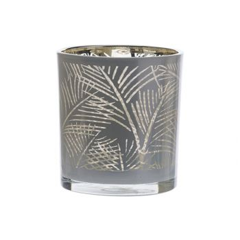 Cosy @ Home Tealight Holder Jungle White 7,3x7,3xh8c