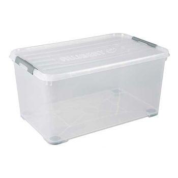 Curver Handy Plus Box 115l On Wheels Transparan