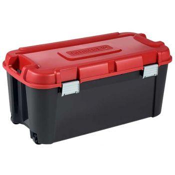 Keter Totem Box 80l Black-red 79.5x39.5xh37.1c