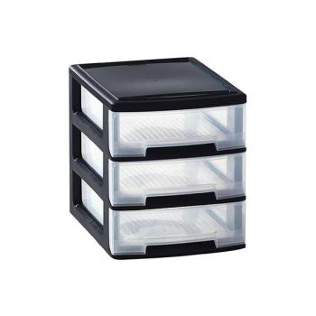 Curver Babel Box A4 3x5l Black 35x26.5x31.3cm