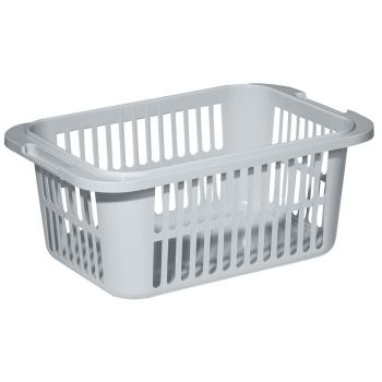 Curver Lingo Laundry Basket 30l Steelgrey 55x35