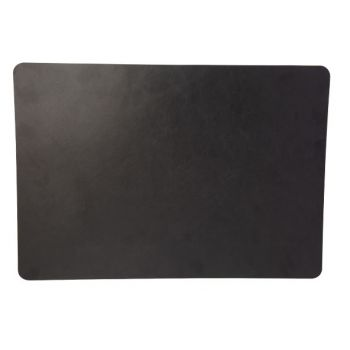 Cosy & Trendy Placemat Leather Black Rectangular 43x30