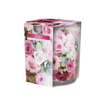 Cosy & Trendy Ct Scented Candle Glass Roses 22hrs