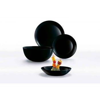 Luminarc Diwali Dinner Set Black 19 Pcs Opal