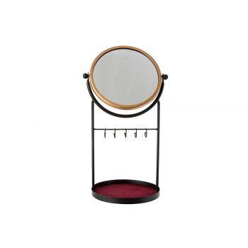 Cosy @ Home Juwelery Hanger Mirror Black 25x20xh45cm