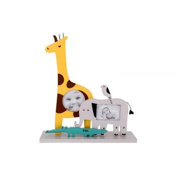 Cosy @ Home Pell Mell Zebra Giraffe Yellow 23x6xh26c