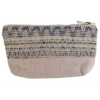 Cosy @ Home Make-up Bag Blue Cream 19x5xh13cm Polyes