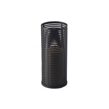 Candola Ubi Candleholder Black Mat-glass 15cm