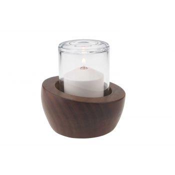 Candola Mori Piccolo Candleholder Brown 10.5cm