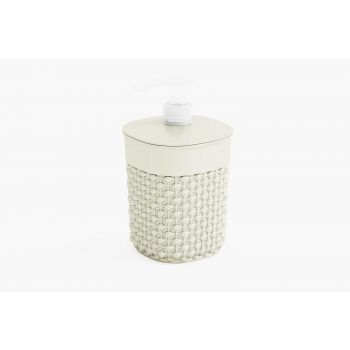 Kis Filo Soap Dispenser Ivory D9xh16cm Round