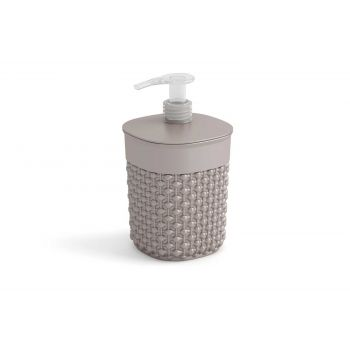 Kis Filo Soap Dispenser Taupe D9xh16cm Round