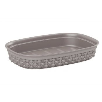 Kis Filo Soap Dish Taupe 15x10xh3cm Rectangu