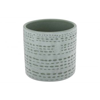 Cosy @ Home Flowerpot Dotted Line Grey Blue 10,5x10,