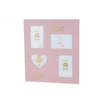 Cosy @ Home Pell Mell Love Pink 35x40xh,8cm Wood