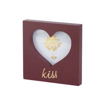 Cosy @ Home Photoframe Heart Kiss Burgundy 15x15xh2c