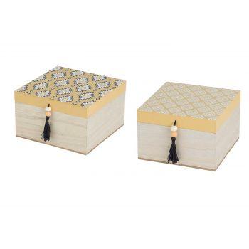 Cosy @ Home Box Set2 Indian  Ochre 15x15xh9cm Square