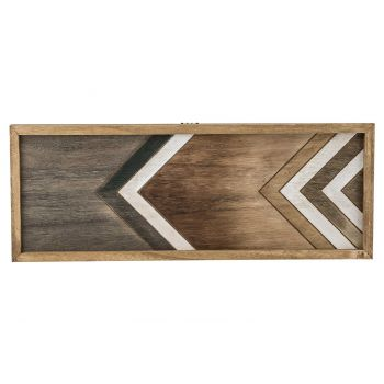 Cosy @ Home Tray Nature Rectangular Wood 50,5x3xh19