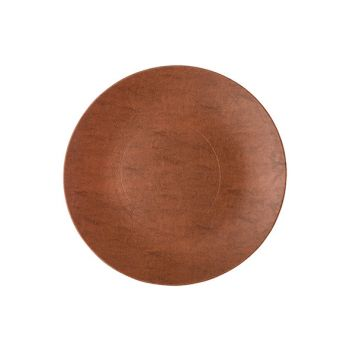 Cosy @ Home Plate Leather Brown 40x40xh2cm Synthetic