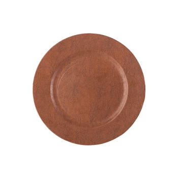 Cosy @ Home Plate Leather Brown 33x33xh2cm Synthetic