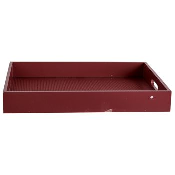 Cosy @ Home Tray Velvet Burgundy 40x30xh5cm Rectangu