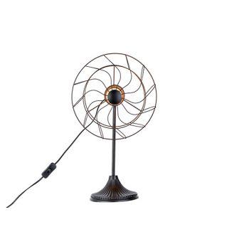 Cosy @ Home Lamp Ventilator Black 32x22,5xh53cm Meta