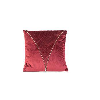 Cosy @ Home Cushion Zipper Burgundy 45x10xh45cm