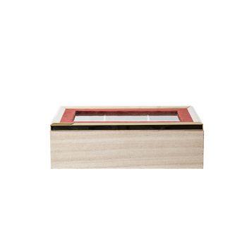 Cosy @ Home Box Velve Tpaprika 24x15xh7,5cm Wood