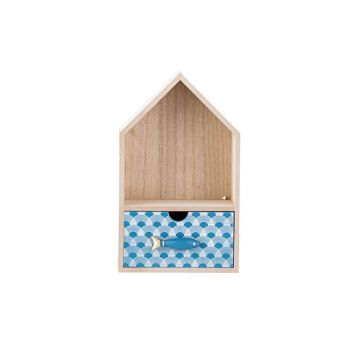 Cosy @ Home Cabinet Fish Blue Nature 15x11xh25cm Woo