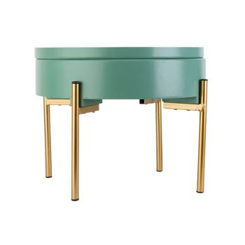 Cosy @ Home Sidetable With Lid Mint 38x38xh31cm Wood