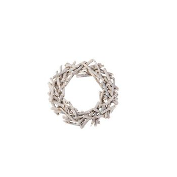 Cosy @ Home Wreath Driftwood Wash White D39xh7cm Woo