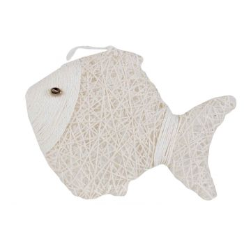 Cosy @ Home Fish Paper String White 24x6xh18cm