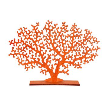 Cosy @ Home Coral Plant Orange 30xh22cm Wood