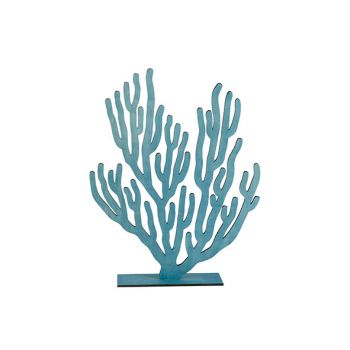 Cosy @ Home Coral Plant Blue 31xh40cm Wood