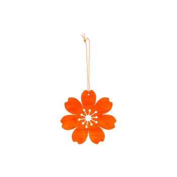 Cosy @ Home Flower Hanger Orange D12cm Wood