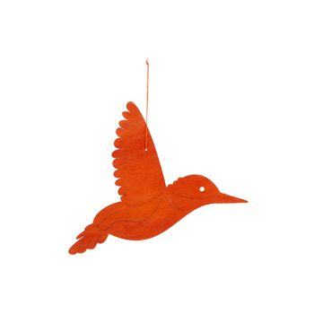 Cosy @ Home Hummingbird Hanger Orange 29xh22cm Wood