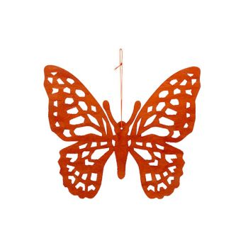 Cosy @ Home Butterfly Hanger Orange 25xh22cm Wood