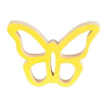 Cosy @ Home Butterfly Hanger Yellow 10x7xh2cm Wood