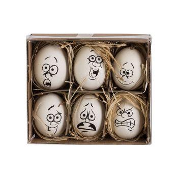 Cosy @ Home Easter Egg Set6 Funny Face Black-white D
