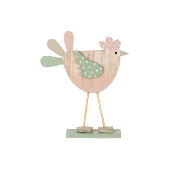 Cosy @ Home Chicken Mint Pink Dots Nature 15x3xh18cm
