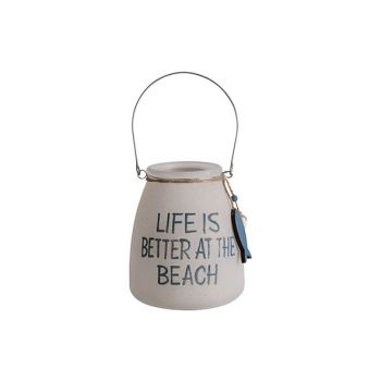 Cosy @ Home Lantern Life Is Better White D13xh15cm G