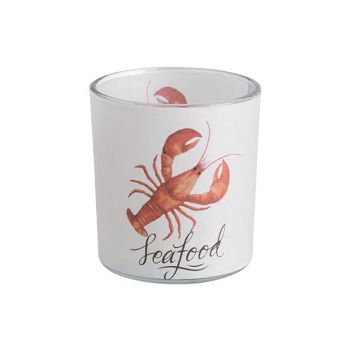 Cosy @ Home Tealight Holder Lobster Orange White D7x